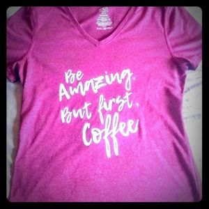"""""""Be amazing but first coffee """"Vneck"""